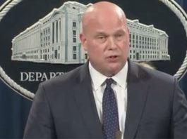 Matthew Whitaker ministre américain de la justice par intérim.