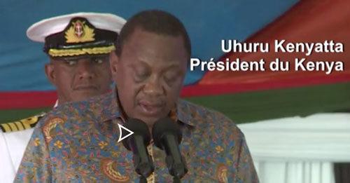 Le president Uhuru Kenyatta