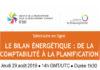 séminaire en ligne sur l'énergie durable, Thème pour sur le bilan énergétique : la comptabilité à la planification.