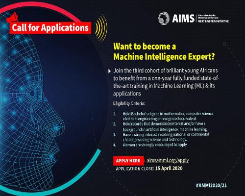 Bourses : Masters Africains en Intelligence Artificielle