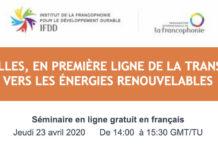 Séminaire en ligne : Les villes, en première ligne de la transition vers les énergies renouvelables