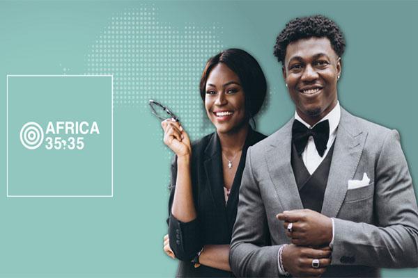 5è édition des Prix Africa 35.35 qui récompense 35 jeunes personnalités de moins de 35 ans de l'Afrique