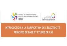 Séminaire en ligne : Tarification de l'électricité, principes de base et études de cas