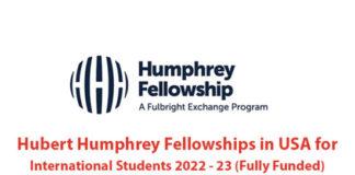 Programme de bourses Hubert Humphrey 2022-2023 pour les étudiants et les professionnels 2022-2023